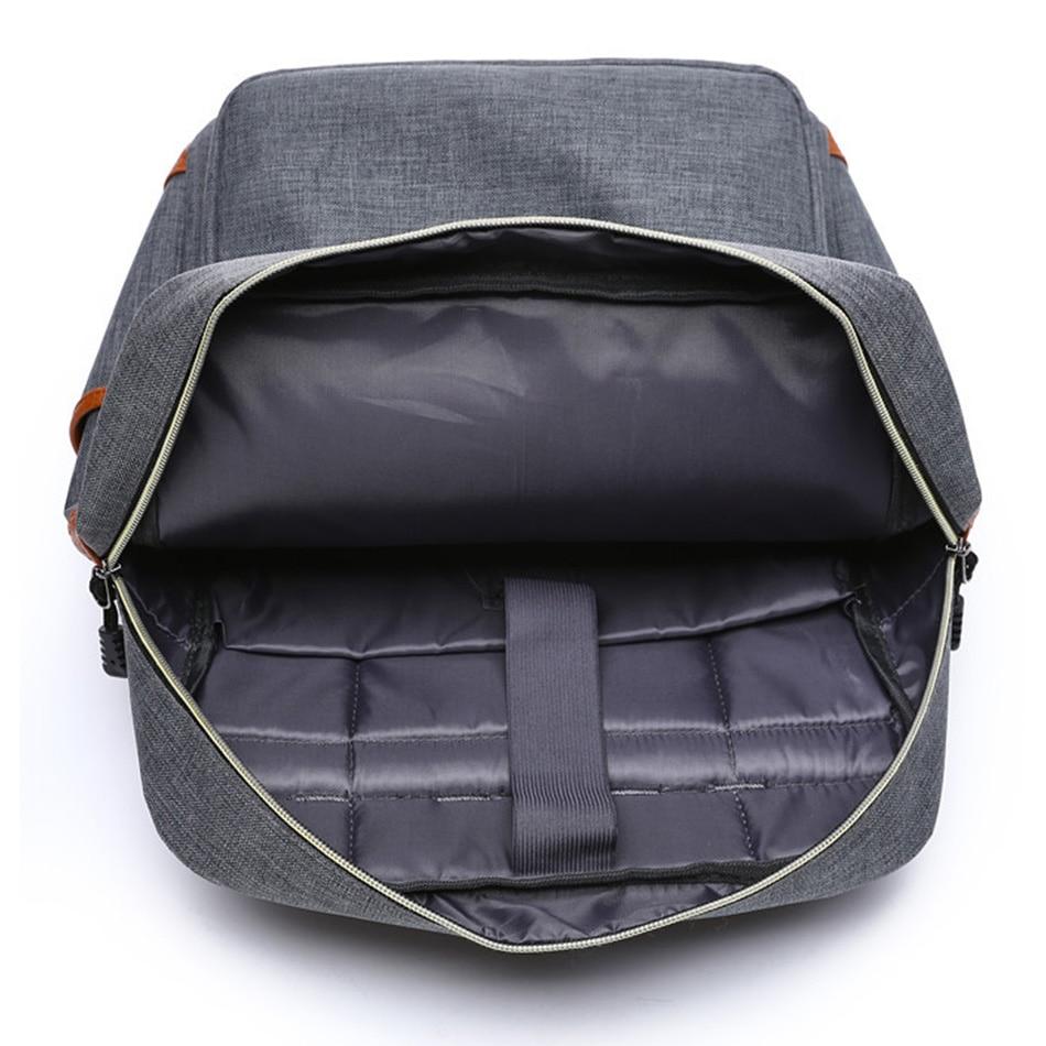 2018 Vintage Men Women Canvas Backpacks School Bags for Teenager Boys Girls Laptop Backpack with USB Charging Fashion Travel Bag (10)