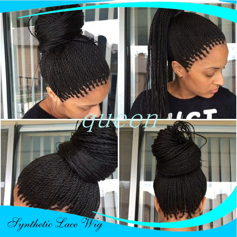 3e2a9f8480b Micro Braided Lace Front Wigs Synthetic Lace Front Wig Hot Sale Wigs Black  Women African American Braided Lace Front Wigs 24