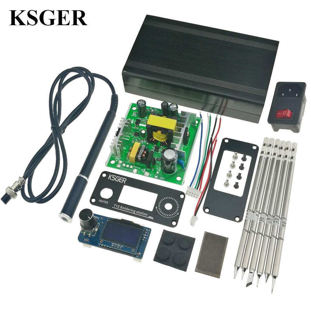 2018 KSGER STM32 V2 1S OLED Soldering Iron Station T12 Tips Alloy Handle Controller Welding Tools