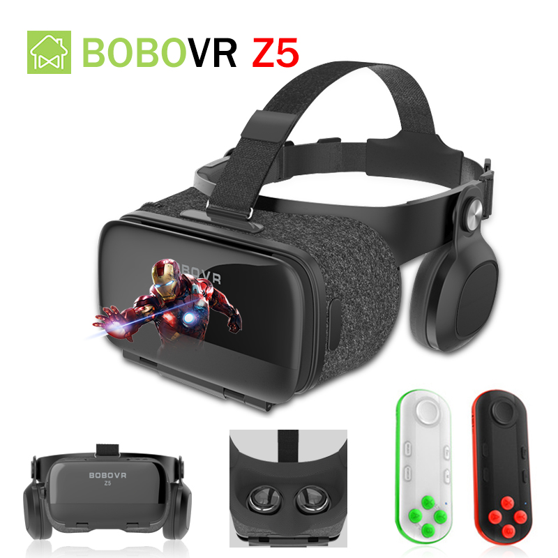 BOBOVR Z5 120 FOV 3D VR Cardboard BOX Remote Helmet Virtual Reality Glasses VR Headset Stereo Box for 4.7-6.2' Mobile Phone 2018 new version bobovr z5 youth virtual reality 3d vr glasses cardboard vr 3d headset box for android and ios smartphone 2 0