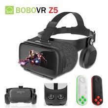 BOBOVR Z5 120 FOV 3D VR Cardboard BOX Remote Helmet Virtual Reality Glasses VR Headset Stereo Box for 4.7-6.2′ Mobile Phone