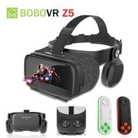 BOBOVR Z5 120 FOV 3D VR Cardboard BOX Remote Helmet Virtual Reality Glasses VR Headset Stereo Box for 4.7 6.2' Mobile Phone