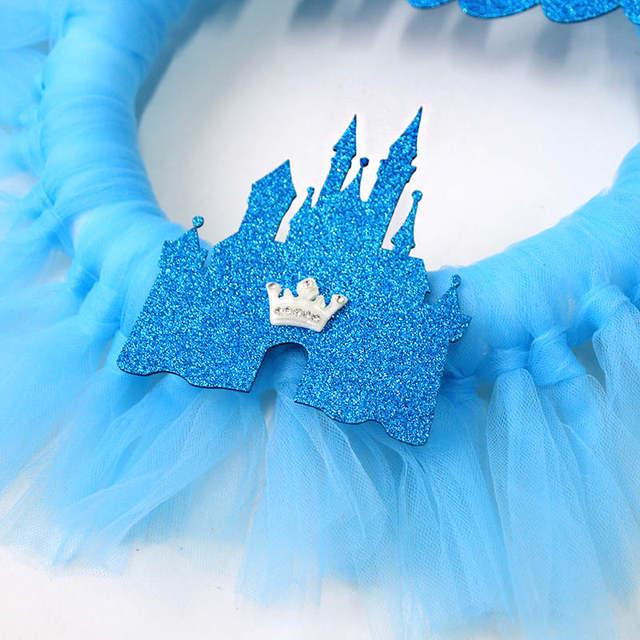 25af158fa12b6 WEIGAO DIY Princess Tutu Wreath Kids Room Decor Door Ornaments Hanger Yarn  Flower Wreath for Girl Birthday Baby Shower Party