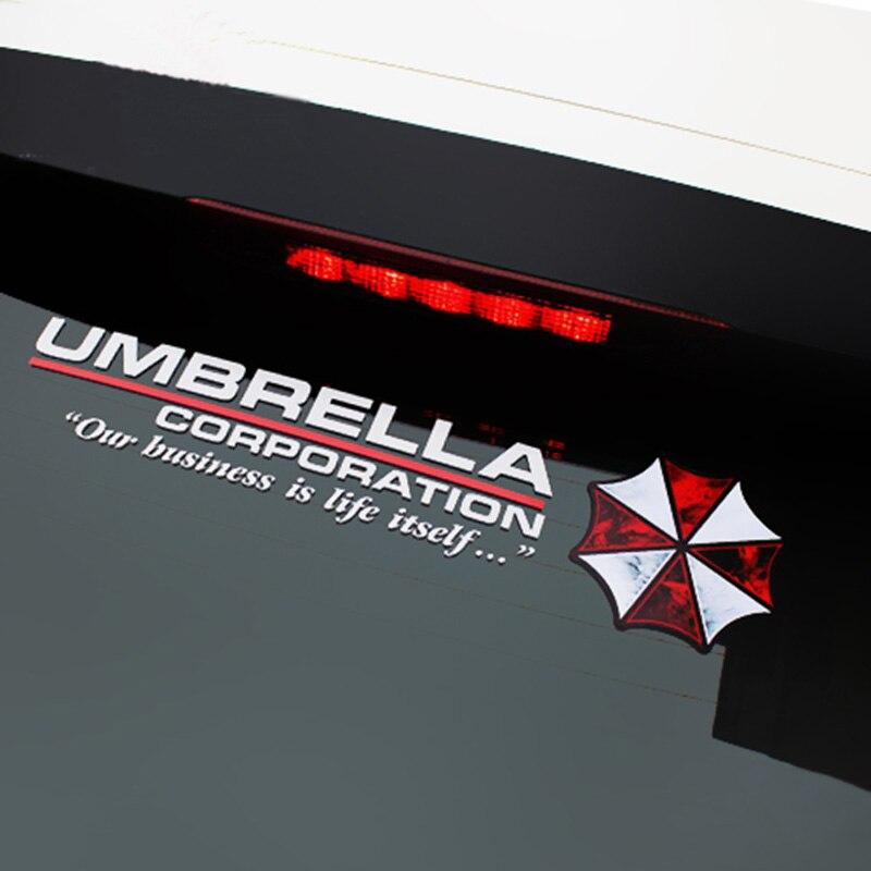 Car le style de protection parapluie Resident Evil personnalité autocollant réfléchissant zombie autocollant de voiture pour le carburant avant arrière pare-brise