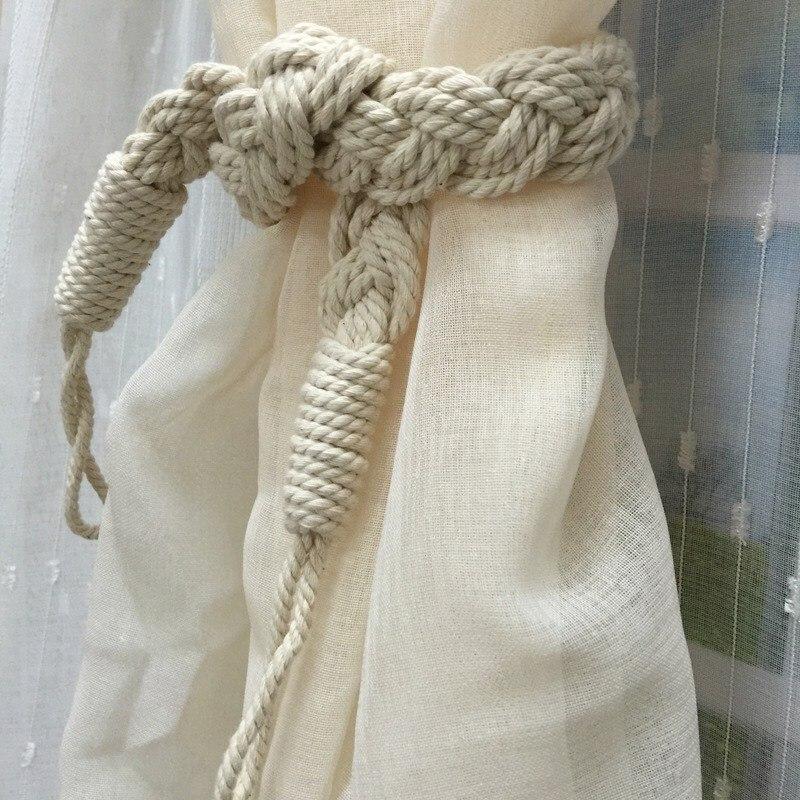Best Selling Curtain Tiebacks Pure Handmade Braided