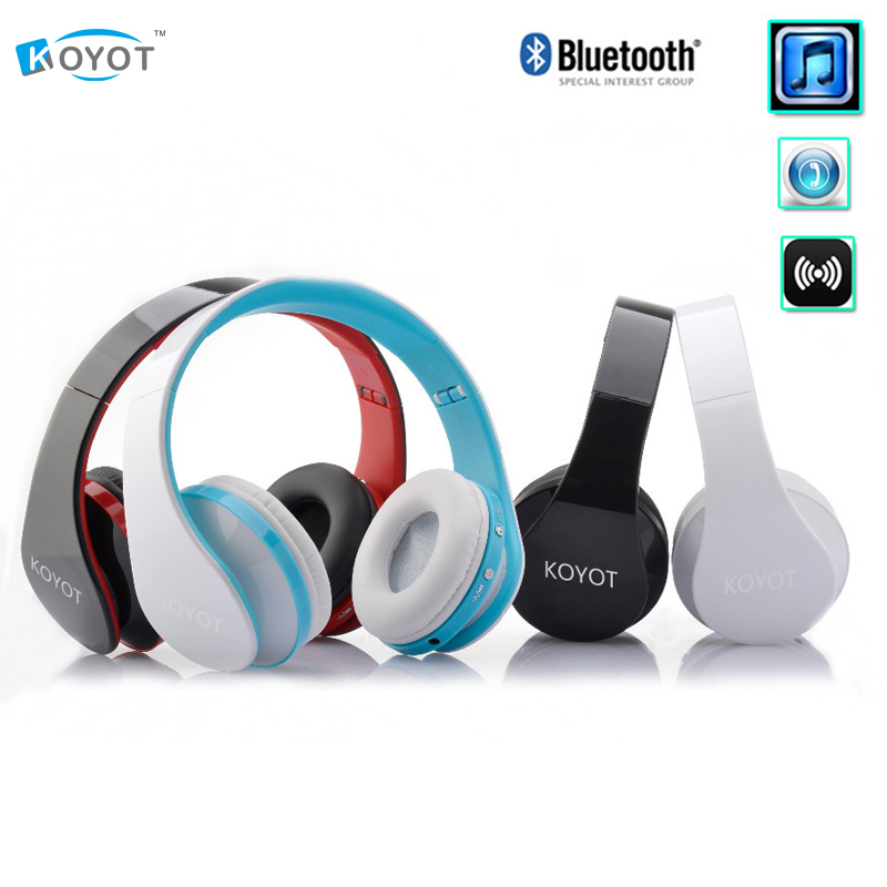 KOYOT Stereo Music Headset Headphone with Mic Handband Foldable Wireless Music Bluetooth Earphone fone de ouvido for iphone 6 bluetooth earphone wireless music headphone car kit handsfree headset phone earbud fone de ouvido with mic remax rb t9