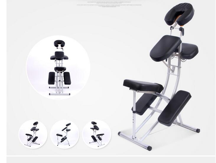 Купить с кэшбэком Massage Chair Health Chair Folding Tattoo Chair Portable Massage Chair Scraping Tattoo Chair Sending Back Bag.