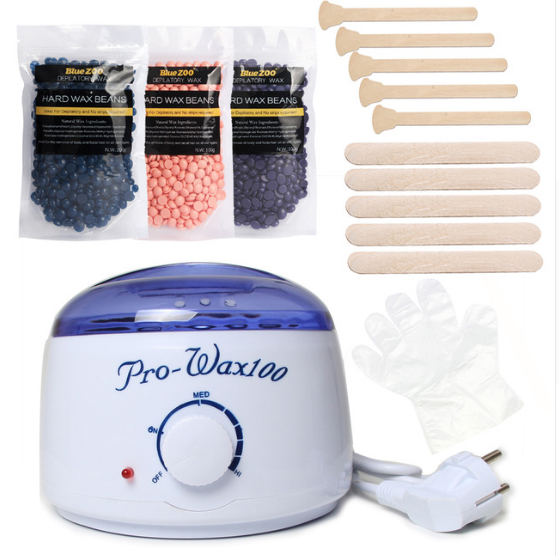 цена на Classic Hair Removal Wax Heater Natural Pearl Hot Hard Epilation Wax Beans Kit Remove Bikini Face Whole Body Hair With Gifts