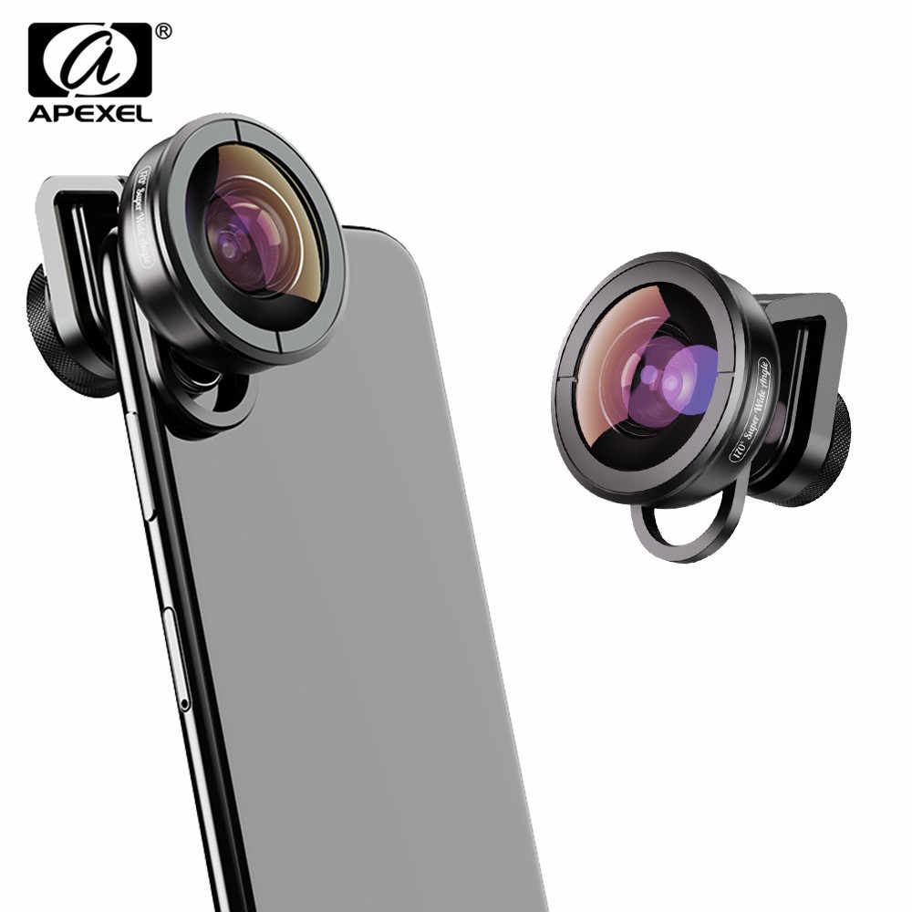Apexel HD 170 Super Wide Angle Camcorder Lens for Dual Lens Single Lens iPhone,Pixel,Samsung Galaxy All Smartphones For xiaomi
