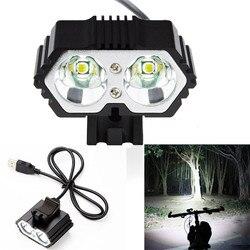 6000лм 2 X CREE XM-L T6 светодиодный USB водонепроницаемый фонарь для велосипеда велосипедный головной светильник велосипедный светильник s велосип...
