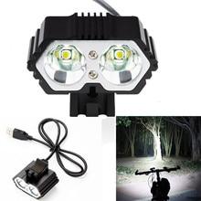 6000LM 2 х CREE XM-L T6 светодио дный USB Водонепроницаемый лампы фар велосипед огни велосипед свет лампы Открытый Велосипеды camoing