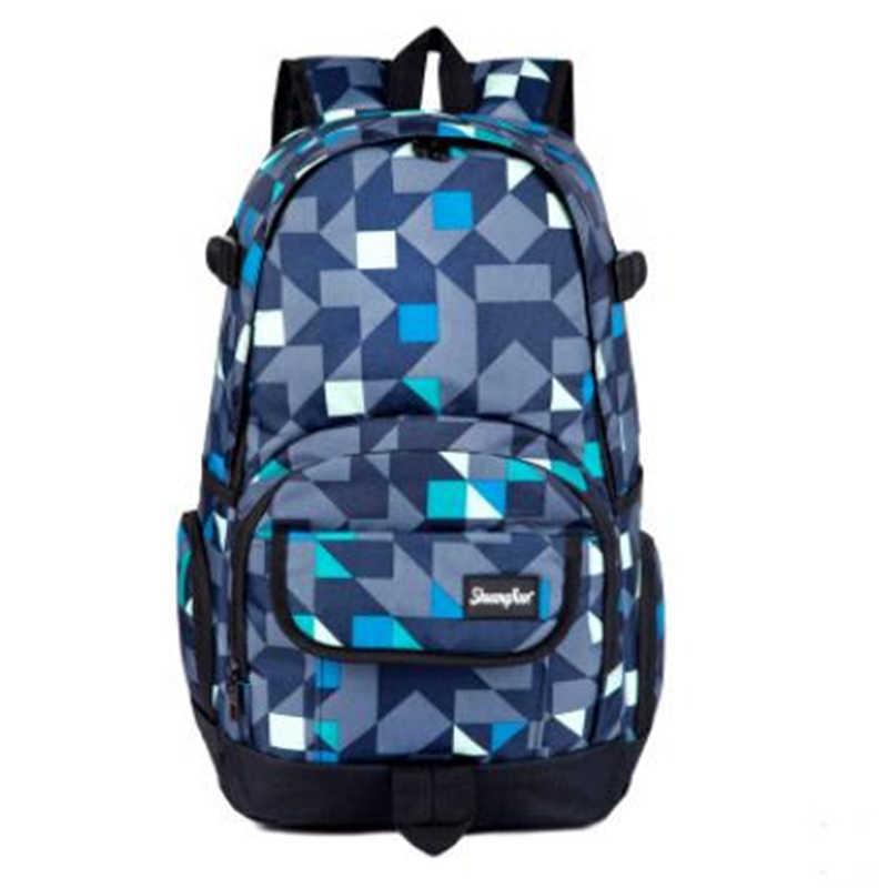 Новый камуфляж большой емкости полиэстер материал большая сумка Япония и Южная Корея холщовый рюкзак выбор сбоку мужской милый рюкзак