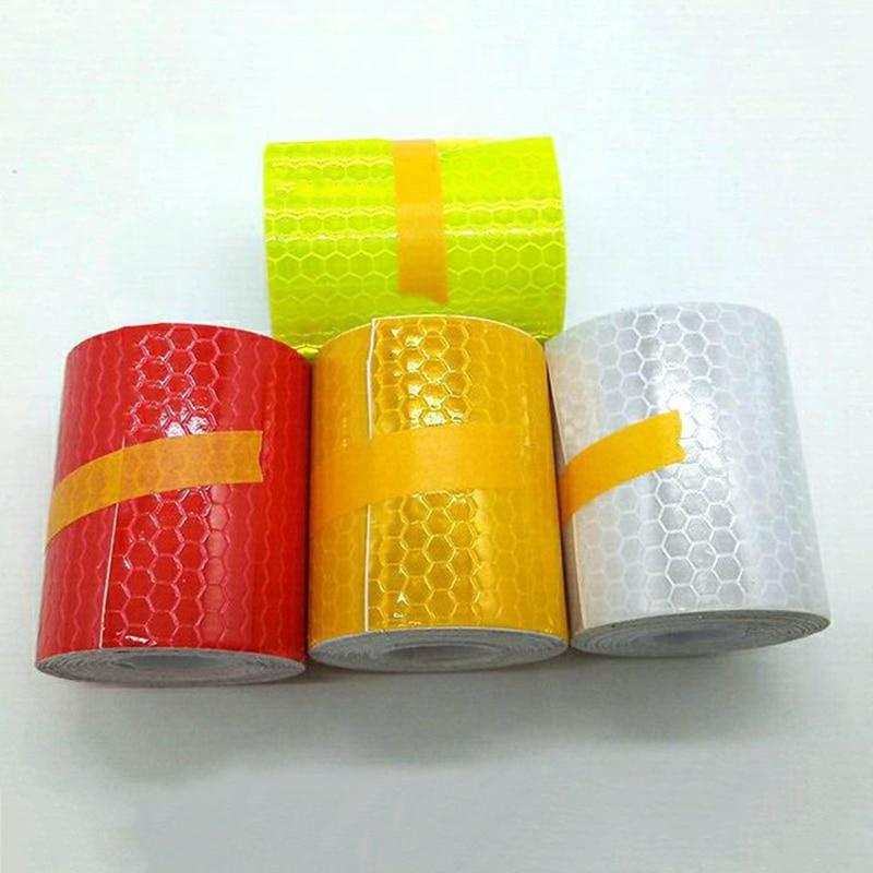 5cmx3m Safety Mark Reflective Tape Sticker Car Styling Self Adhesive Warning Tap