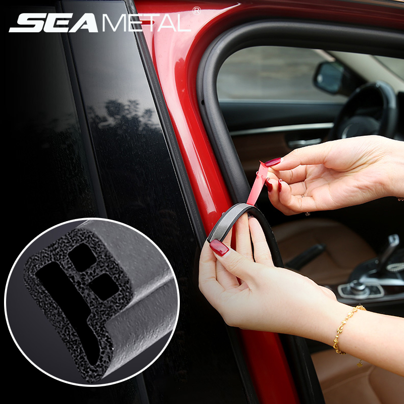 Rubber Car Seal Strip Door Window Waterproof Dustproof Leakproof Noise Insulation Sound Sticker Universal Automobile Accessories