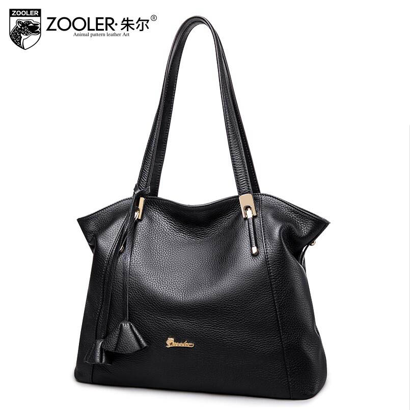 2017 New ZOOLER Superior cowhide Genuine Leather bag fashion luxury handbags women bags designer women leather shoulder bag