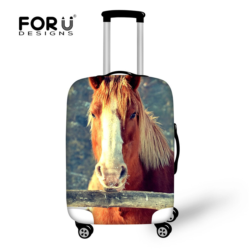FORUDESIGNS Travel Accessories Crazy Horse Luggage Cover,Elastic Suitcase Protective Covers for 18-28 inch Trolley Case Stretch