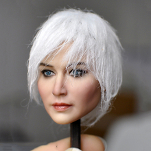 цена на 1/6 Kumik KM18-37 Female Past Head Sculpt Figure Model PVC Silver hair Lifelike Girl 12