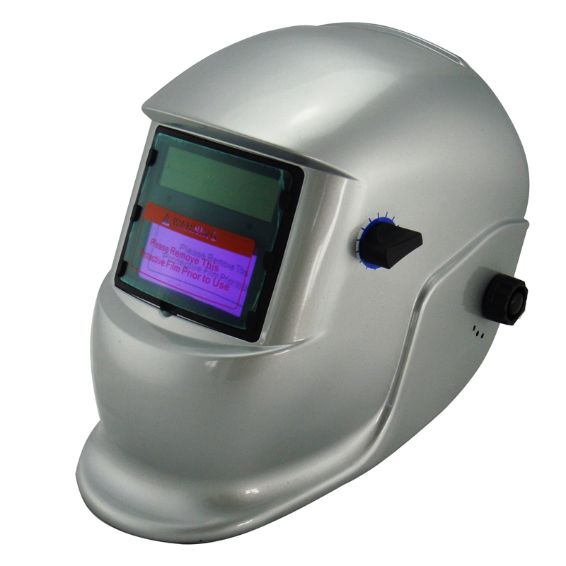 ФОТО New sliver Li Battery+Solar auto darkening welding helmet/protective mask for MIG MAG CT KR welding machine and LGK cutting tool