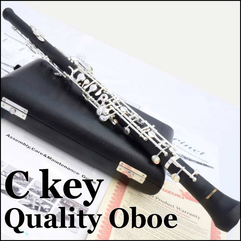 Professional Oboe Silver Plated Semiautomatic C Key Woodwind Musical Instrument Hautbois With Case autoprofi agr 110h