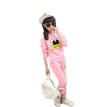 2016 Autumn New Fashion Girls Clothes Jacket Kids Hoodies+Pants Kids Tracksuit for Girls Clothing Sets Girls Sport Suit