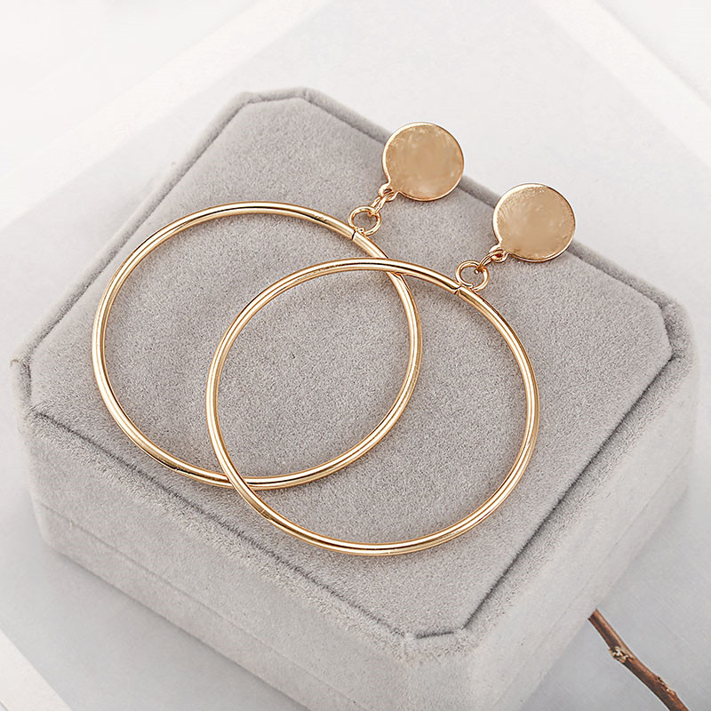 Simple Style Fashion Silver Gold Color Earrings for Women Square Round Geometric Hanging Earrings 18 Female Pendientes Jewelry 21