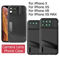 Camera Lens Phone Case for iPhone X XS XR XS MAX Fisheye Wide Angle Macro Lens TPU Soft Phone Cover for iPhone X XS XR XS MAX