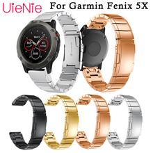 26mm wristband Stainless steel easy Fit watch Wrist Strap for Garmin Fenix 5X 5X plus quick release Watch band Strap Bracelet leather easy fit watch strap quick release bracelet belt 26mm for garmin fenix 3 fenix 5x 5x plus smart watch band wristband