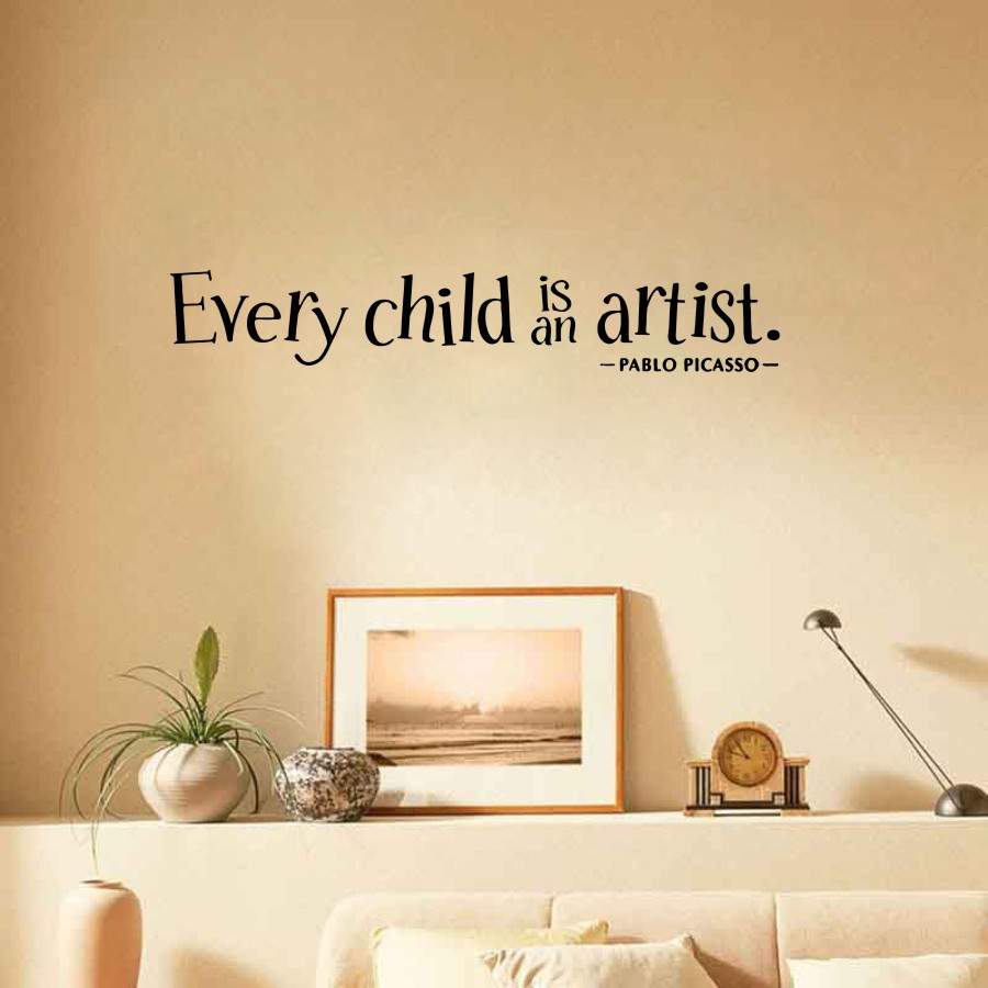 Every child is an artist Romantic Removable Vinyl Decals Decor ...