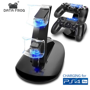 Data Frog 4 USB Controllers Charging Dock For PS4 Slim Pro For Sony PS4 PlayStation 4 Game Controller Stand Holder  Chargers