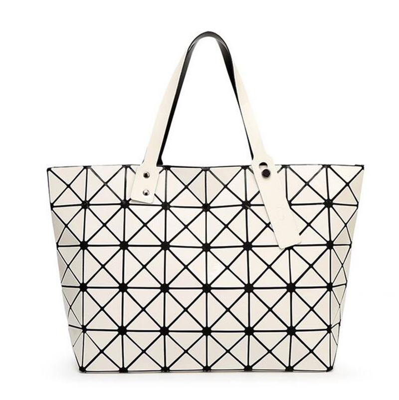 Trenadorab Fashion Women Top-Handle Pearl Bag Diamond Lattice Tote  Quilted Handbag Geometric Mosaic Shoulder Bag sac a main 2015 hot fashion top top quality same as baobao 1 1 women s lattice geometry quilted handbag geometric mosaic totes bag6 6