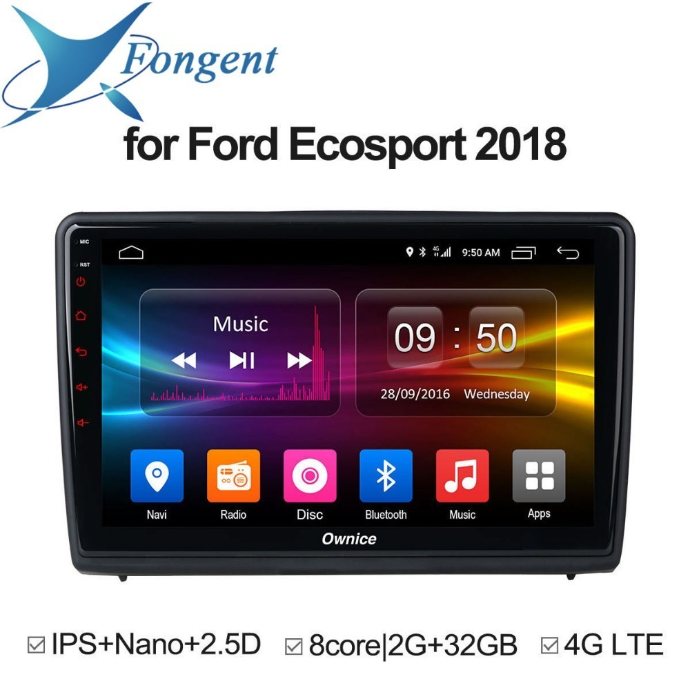 for Ford Ecosport 2018 Car Android 8.1 Auto radio stereo Unit dvd GPS Navigation Radio Video Music Music Multimedia DVD player for ford focus 3 2012 2013 2014 2015 car android unit 1 din dvd radio stereo audio multimedia video music player gps navigation