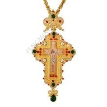 Серебряный грудной крест христианская церковь colden priest распятие ортодоксальный подарок на крестины религиозные иконы