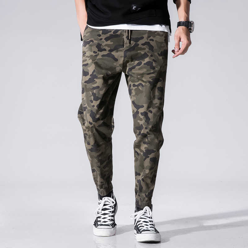 Мужские камуфляжные свободные уличные повседневные джинсовые тренировочные штаны модные брендовые мужские спортивные штаны в стиле хип-хоп мужские брюки больших размеров 40 42