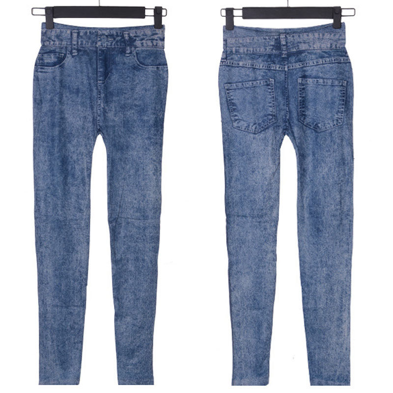 Lady Blue Skinny Slim Pants Plus Size for Women Jeans