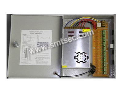 100% load test SAD-1230B 360W DC12V 30A  18CH CCTV Surveillance camera Power Supply Box with Output Protection function