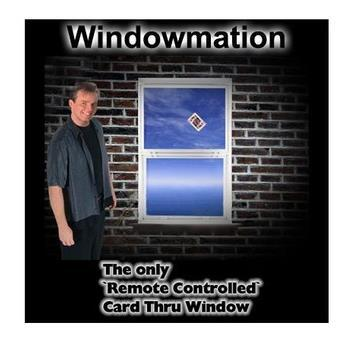 Free shipping!WindowMation Remote Control Card Thru Window-Magic Trick,stage/closeup,magic tricks,fire,props,comedy  remote control electronic ignition device suit for stage magic trick magic trick with free shipping
