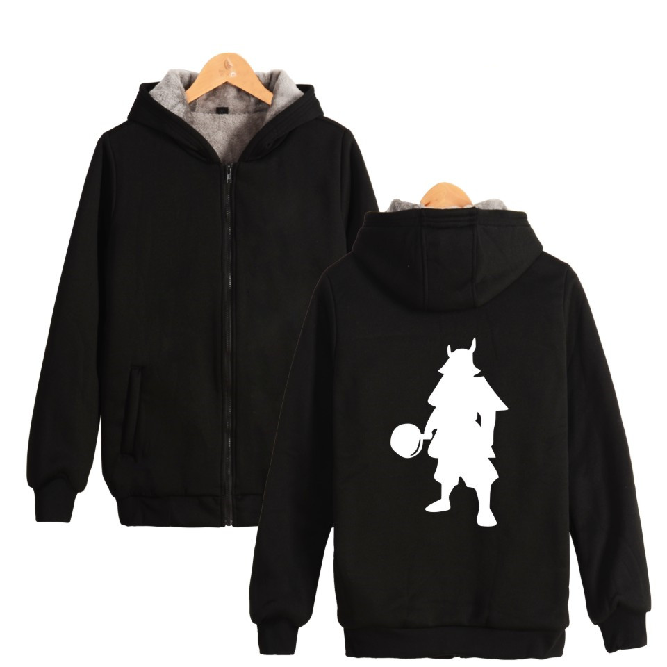 Playerunknown's Battlegrounds Samurai Hoodies With Zipper Hat Men Thick Warm Hooded  Winner Winner Chicken Dinner PUBG Clothes