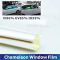 50 x 300 cm ventanilla del coche camaleón tinte tinte película de vidrio VLT 75% Auto casa Solar de protección UV de verano Prevent ultravioleta Car Styling