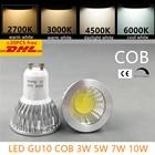 led bulb spotlight dimmable GU10 cob mr16 3w 5w 7w 10w warm white 2700k 3000Kdaylight cool white real power replace halogen lamp