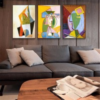 HAND Painted Modern Famous Oil Painting Picasso Woman Girl Colorful Decorative Figure Canvas Painting Cubism Art