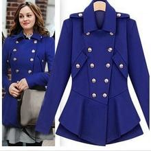 Европейская Новая мода г.; весенне-зимнее двубортное пальто в стиле сплетницы; цвет красный, синий, черный; Верхняя одежда; S-L