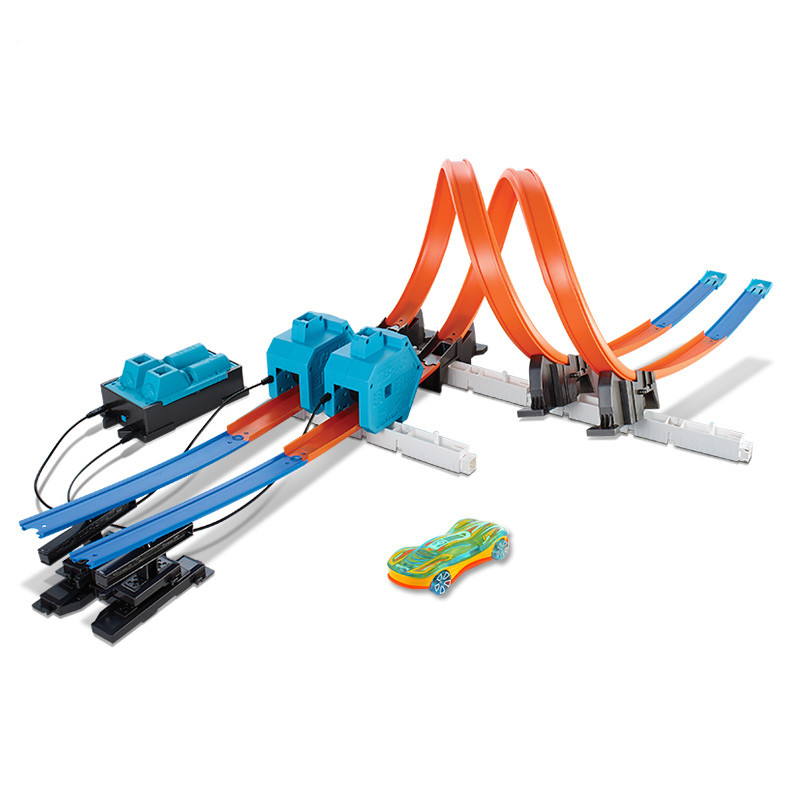 Hot-Wheels-Roundabout-Track-Toys-Model-Cars-Classic-Power-Booster-Kit-Toy-Car-Birthday-Gift-For (2)