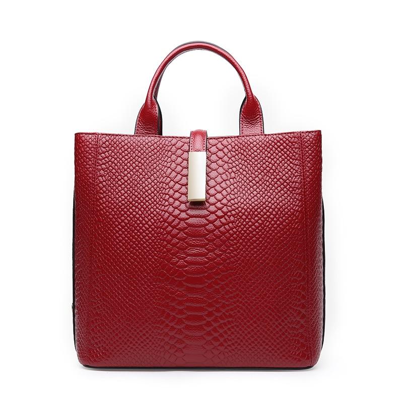 LUODUN2018 Mode Avant-Garde Läder Tote Bag Vår / Sommar Väska - Handväskor - Foto 1