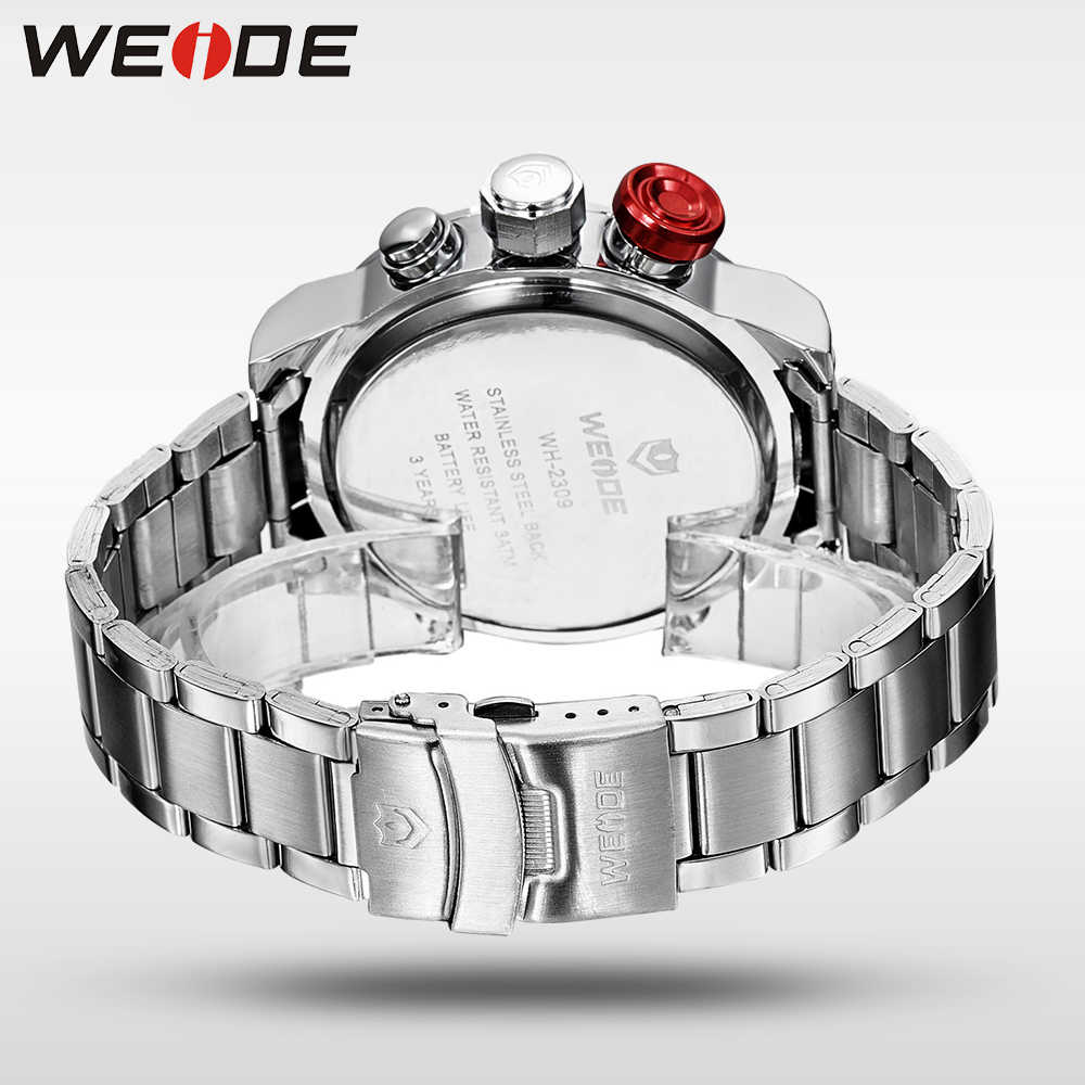 ba45c3e4ffb ... WEIDE Watches Men Top Brand Fashion Watch Quartz Stainless Steel Band  Male Clock relogio masculino Army