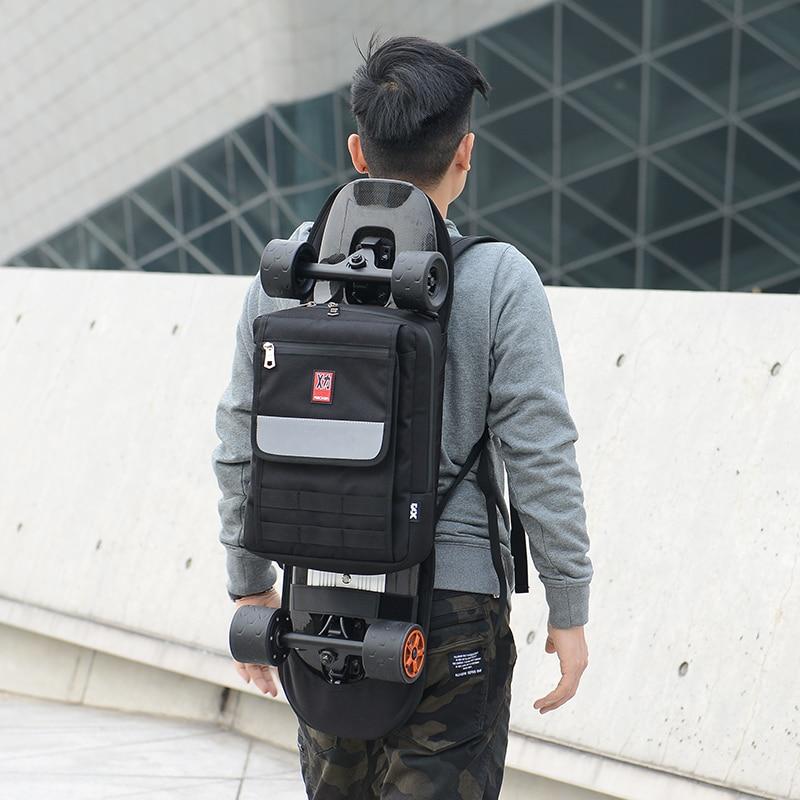 Original Design Shoulder Skateboard Bag Double Rocker Small Fish Plate Electric Skateboard Bag Black Color In Stock