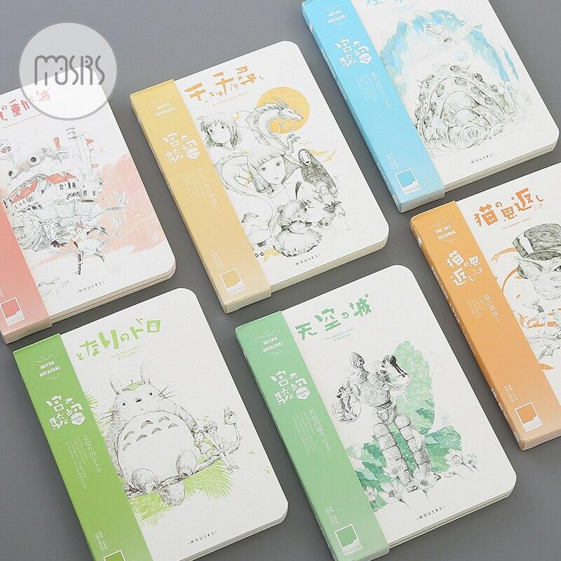 Hot Sketchbook Diary Drawing Kawaii Cute Shcool Notebook Paper 80 Sheets Notepad Creative Trends Office Supplies Gift