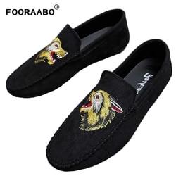 Mody aksamitne męskie buty w stylu casual wiosna męskie mokasyny 3D szpiczasty hafty Gentleman luksusowe buty marki Man płaskie buty wsuwane buty|Męskie nieformalne buty|   -