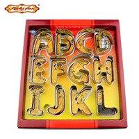 26Pcs Set Alphabet Letter Cookie Cutter Set 3D Big Size Stainless Steel Biscuit Mould Fondant Cake
