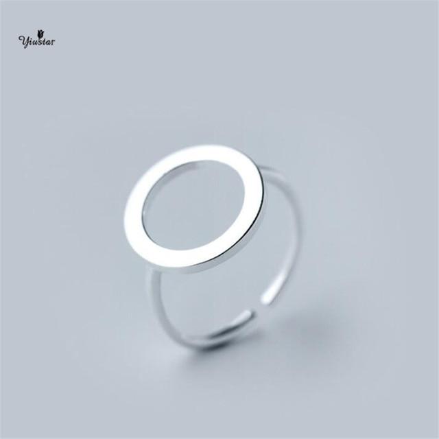 Yiustar New Fashion Geometrica Circle Anelli per le donne regali di nozze