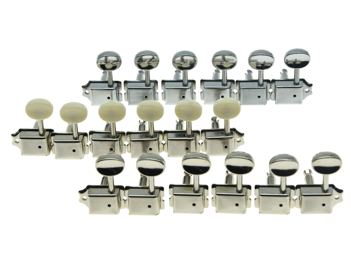 Lefty Split Shaft Vintage Guitar Tuning Keys Tuners Machine Heads for Strat Tele 3 Colors 3 left 3 right chrome inline locked string guitar tuning pegs keys tuners machine heads for strat tele style electric guitar